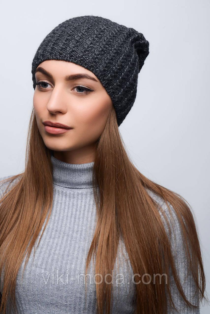 Женская однотонная вязаная шапка, в расцветках: продажа ...
