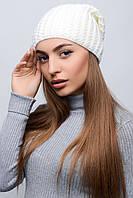 Женская однотонная вязаная шапка, в расцветках, фото 1