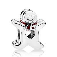 """Шарм """"Сладкий Пряничный человечек"""" из серебра Pandora, 792002EN07"""