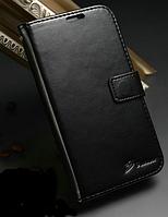 Кожаный чехол-книжка для Samsung Galaxy S4 i9500 черный