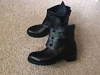 Женские натуральные кожаные зимние ботинки Hermes, болтики,на меху,35-40