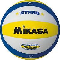 Мяч для любительського волейбола Mikasa (VSV300-STARS-Y, VSV-STARS-Y)