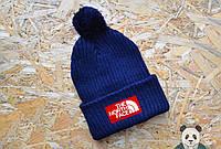 Модная шапка мужская The North Face Beanie  с бубоном