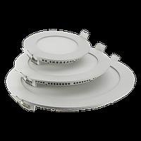 LED PANEL LIGHT 6W Glass Rim Round Точечный светодиодный светильник круг