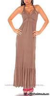 Макси-платье кофейного цвета