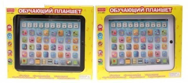 Детский обучающий планшет на русском и английском языках