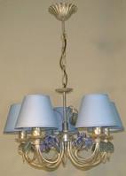 Люстра для спальни, для прихожей, для зала 5-ти ламповая  13755-2