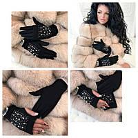 Модные женские перчатки 2в1