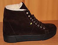 Женские ботинки зимние молодежные на толстой подошве, молодежные ботинки женские от производителя модель ЭБ2