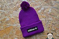 Молодежная шапка адидас,Adidas с бубоном