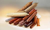 Колбасная оболочка (фиброуз) для домашних колбас, диаметр 45, цвет копчения, с маркировкой