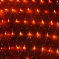 Светодиодная Сетка 200 led-кристалл, прозрачный провод, разные цвета