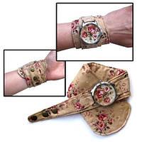 Тканевые наручные часы Винтажные розы