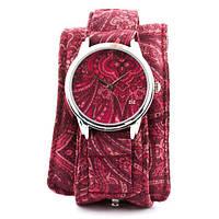 Тканевые наручные часы Розовые узоры
