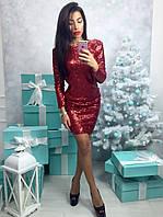 Короткое блестящее платье, фото 1