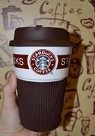 Чашка керамическая  Starbucks  Еco Life Brown