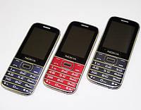 Кнопочный мобильный телефон Nokia G809 копия 2 сим FM Bluetooth