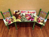 Детский столик и 2 стульчика