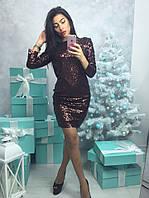 Платье коктейльное блестящее