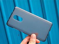 Чехол TPU для Xiaomi Redmi Note 4 / Note 4 Pro (Mediatek) бампер оригинальный серый, фото 1