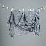 097 825 05 88. Оренбургский пуховый платок  размер 130х130см. Белый и Серый., фото 3