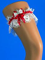 """Подвязка на свадьбу для невесты """"Кружево шантильи"""""""