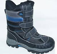 Зимние ботинки для мальчика сноубутсы на липучках, 33-38