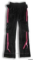Штаны спортивные черно-розовые, на девочку 12 лет
