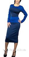 """Платье в стиле """"Victoria Beckham"""" , цвет синий"""