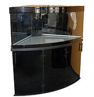 Аквариум Акватика Угловой 261л с аквариумной крышкой, светильником, тумбой под аквариум