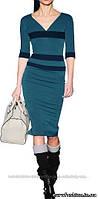 """Платье в стиле """"Victoria Beckham"""", цвет зеленый нефрит"""