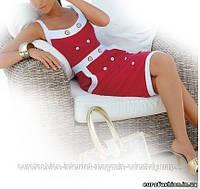 Красное коттоновое платье для утонченных леди