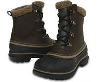Сапоги Crocs Men's AllCast II Boot / мужские зимние непромокаемые ботинки на шнурках