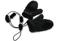 Норковые рукавицы, варежки норковые. Меховые рукавички из меха норки., фото 1