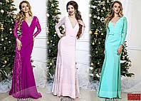 Вечернее платье в пол в расцветках