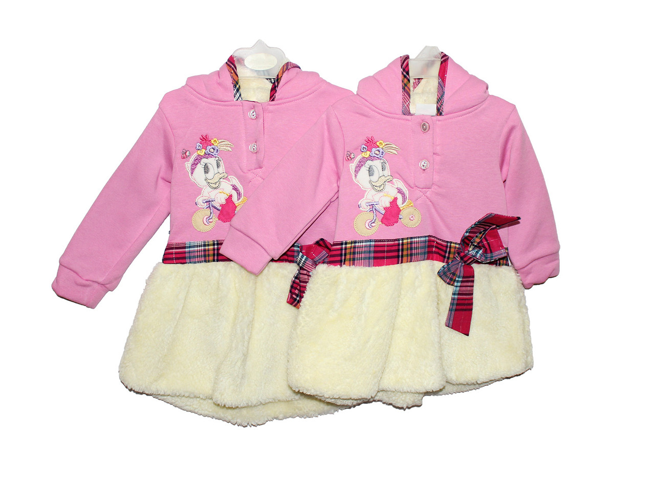 Плаття дитяче тепле з хутром для дівчинки Sermino 2609