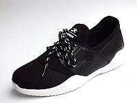 Мягкие женские тканевые кеды кроссовки, мокасины черные на белой подошве siying fashion 35-41