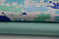 Детское постельное белье Слоники Цветные 3 (100% хлопок), фото 1