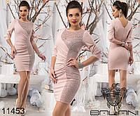 Красивое платье р. S, M, L, XL 11450 3 цвета