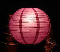 Фонарь бумажный шар фиолетовый