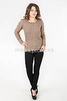 Кофта свитер удлиненная спинка р.44-46 цвет капучино 18-5