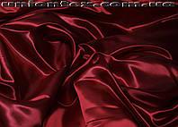 Атлас бордовый