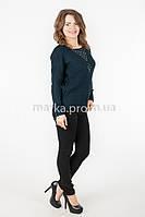Кофта свитер удлиненная спинка р.44-46 цвет темно-синий 18-2