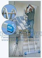Лестница комбинированная алюминиевая бытовая KRAUSE Original CombiMatic 2x3 + 2x6 ступеней (121363)