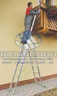 Лестница трехсекционная алюминиевая бытовая ITOSS 3x7 ступеней (7607)