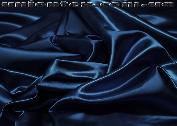 Атлас темно-синий, фото 2
