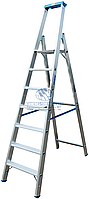 Стремянка алюминиевая промышленная KRAUSE Stabilo 7 ступеней (124548)