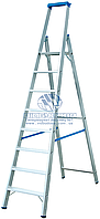 Стремянка алюминиевая промышленная KRAUSE Stabilo 8 ступеней (124555)