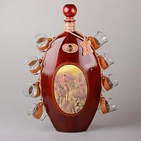 Набор для водки 9 предметов: бутылка и 8 стопок ed601-037