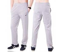 Спортивные штаны больших размеров Найк (Nike) мужские трикотажные светло серые баталы Украина